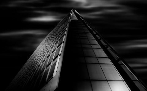 architecture long exposure glass office building modern office fine art architectural black and white