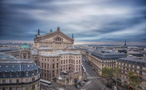 paris rooftops and Opera Garnier architecture