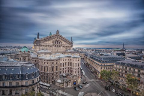 paris rooftops and Opera Garnier architecture