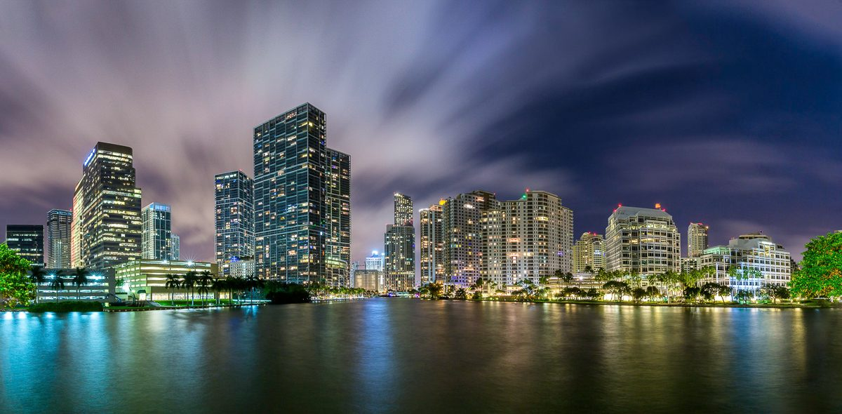 Downtown-Miami-Brickell-Key-Florida-Panorama