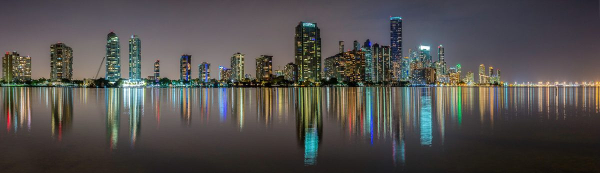 Miami-downtown-from-Key-Biscayne-Panorama