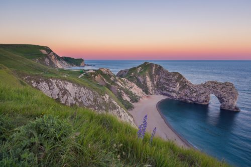 landscape-durdle-dor-dorset-sunset