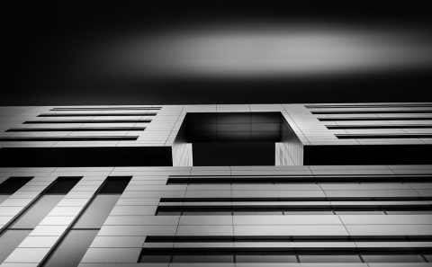antonyz long exposure architecture modern office building London black and white