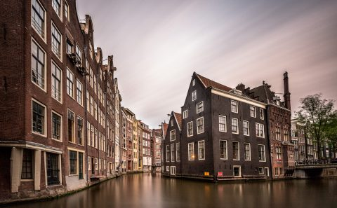 antonyz long exposure architecture amersterdam holland netherlands red-light canals