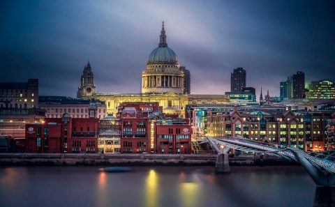 antonyz long exposure architecture skyline London st pauls cathedral river thames england night lights