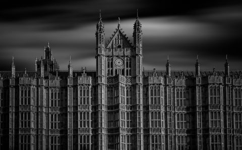 antonyz long exposure architecture London Houses Parliament Westminster Palace black and white