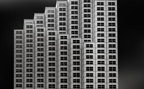 antonyz long exposure architecture modern office building miami black and white