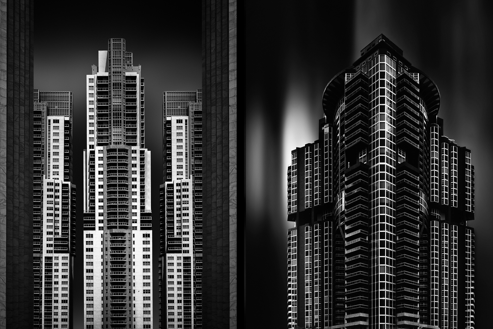 antonyz long exposure architecture modern residential buildings black and white