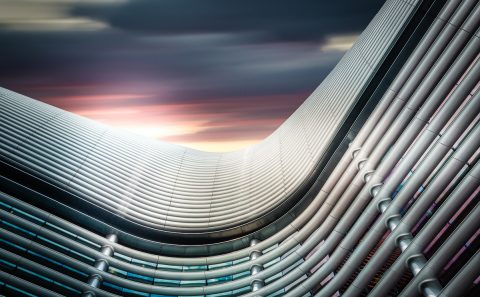 antonyz long exposure architecture modern office building sunset