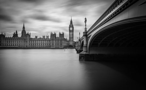 antonyz long exposure architecture skyline London parliament westminster palace big ben river thames black and white