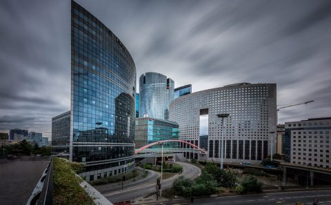 antonyz long exposure modern architecture la defense paris france