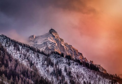 antonyz long exposure landscape chamonix french alps ski cloud mountain sunset