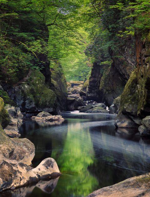 antonyz long exposure landscape fairy glen river stream wales uk