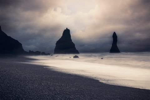 antonyz long exposure landscape iceland reykjavik water reynisfjara black sand beach nature