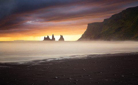 antonyz long exposure landscape Iceland vik sunset nature