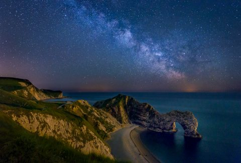 antonyz long exposure landscape milky way drudge for dorset england uk seascape arch