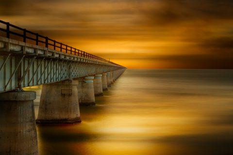 antonyz long exposure landscape tranquil ocean scene sunset bridge florida calm water
