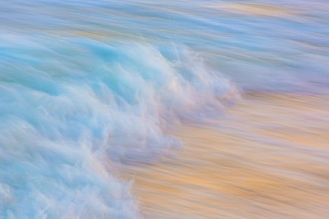 antonyz long exposure landscape tranquil ocean scene shoreline water receding waves blur