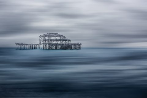 antonyz long exposure landscape tranquil ocean scene brighton sussex england west pier