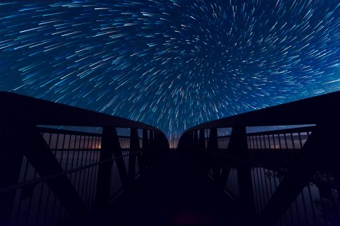antonyz long exposure landscape stars milky way vortex effect bridge night sky