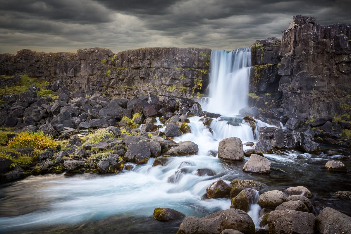 antonyz long exposure landscape iceland waterfall reykjavik water flow river