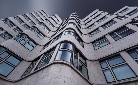 antonyz long exposure architecture curved Berlin modern office building