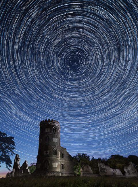 antonyz photograph castle folly star trails astro photography night sky