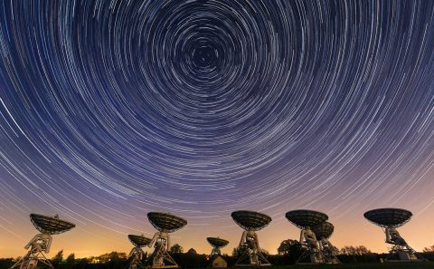 antonyz photograph-satelite dishes star trails astro photography night sky