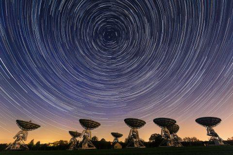antonyz photograph-satelite dishes star trails astro photography night sky