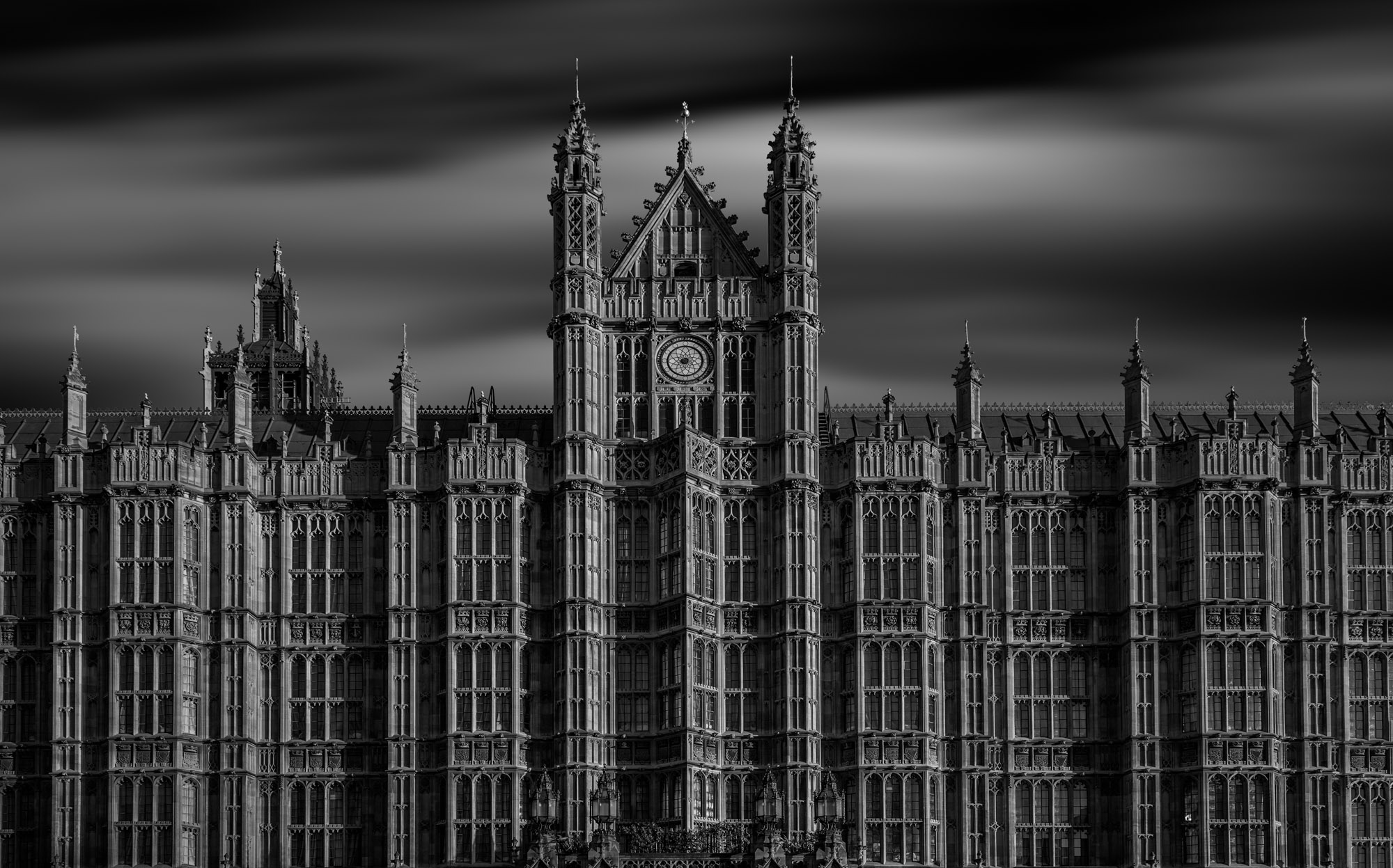 long exposure architecture photograph of Westminster Palace houses of parliament in London UK