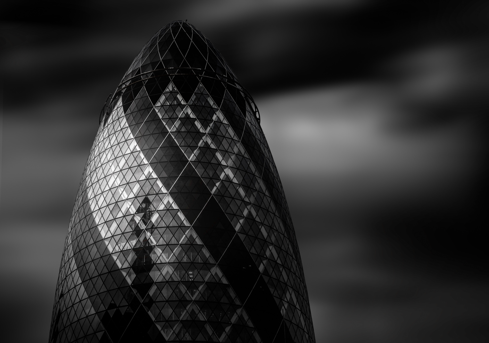 antonyz long exposure architecture photograph of the gherkin st marys axe london modern office building