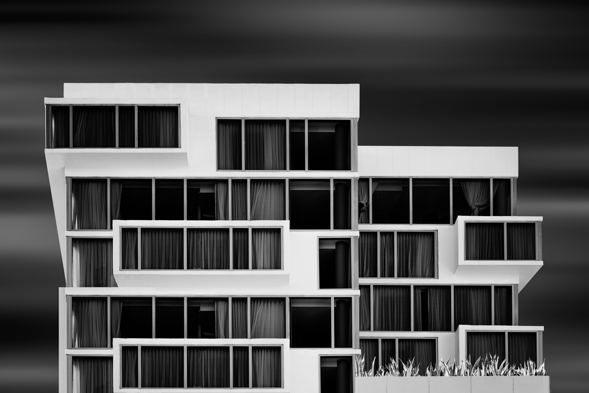 antonyz long exposure architecture photograph of a modern apartment building