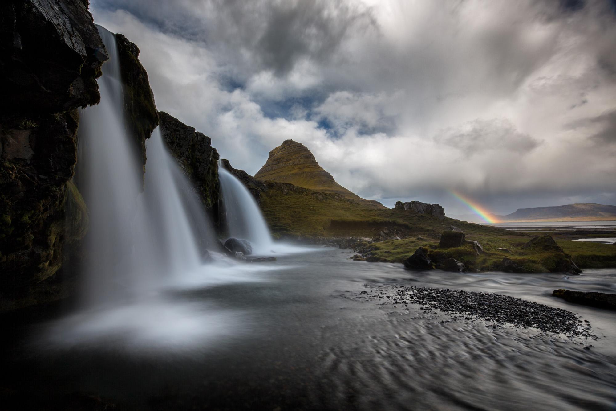 antonyz long exposure landscape photograph of rkirkjuellfoss waterfall in iceland