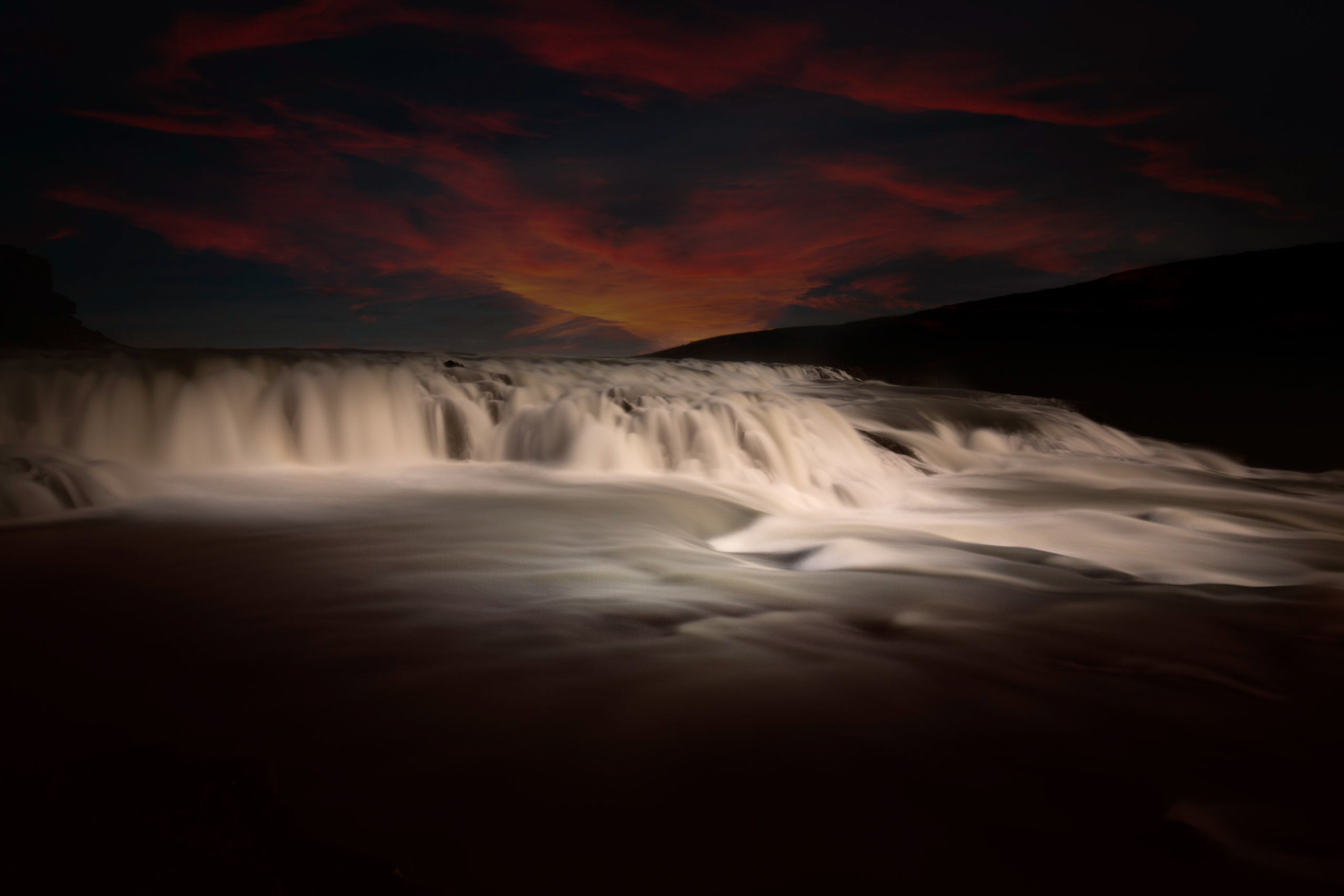 antonyz long exposure landscape photograph of a beautiful waterfall in Iceland